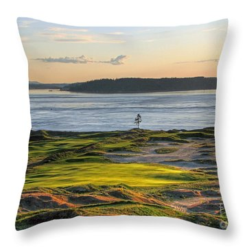 Pax - Chambers Bay Golf Course Throw Pillow