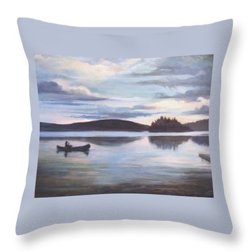 Payette Lake Idaho Throw Pillow
