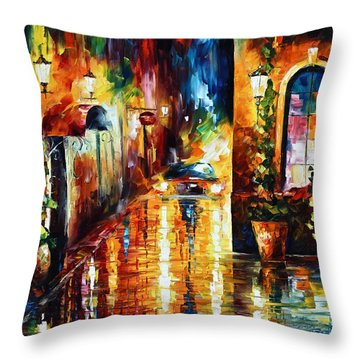 Paying A Visit New Throw Pillow by Leonid Afremov