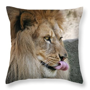 Throw Pillow featuring the photograph Pbbbt by Judy Whitton