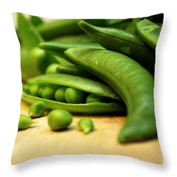 Pea Pods Throw Pillow