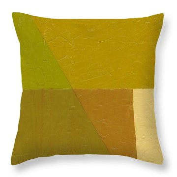 Pea Soup And Cream Throw Pillow by Michelle Calkins
