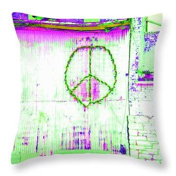 Throw Pillow featuring the photograph Peace 2 by Minnie Lippiatt