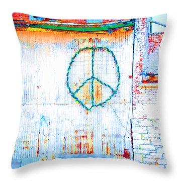 Peace 3 Throw Pillow
