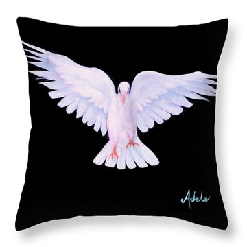 Peace Throw Pillow by Adele Moscaritolo