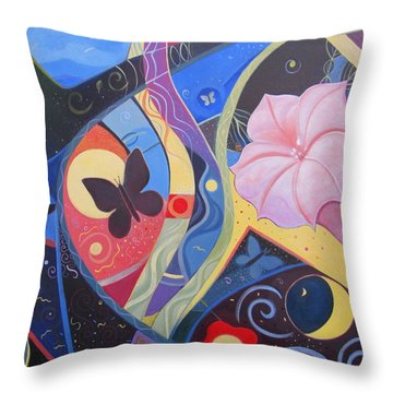 Peace And Flow Throw Pillow