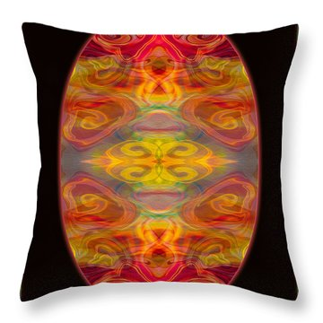 Peace And Harmony Abstract Healing Art Throw Pillow