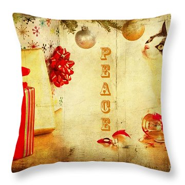 Throw Pillow featuring the photograph Peace And Joy To All by Chris Armytage