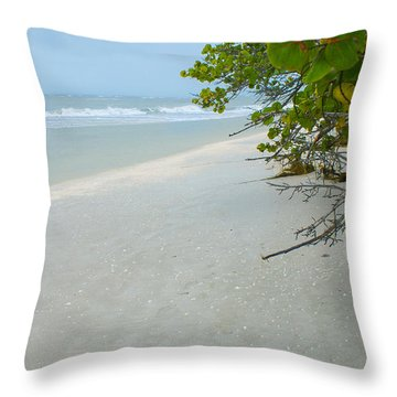 Peace And Quiet On Sanibel Island Throw Pillow
