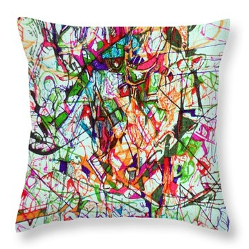 Peace And Wonderment 1 Throw Pillow by David Baruch Wolk