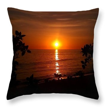 Throw Pillow featuring the photograph Peace At The Beach by Chris Tarpening