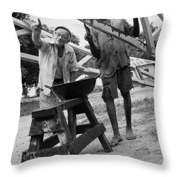 Peace Corps Sierra Leone Throw Pillow by Granger