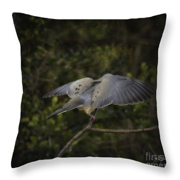 Peace Throw Pillow by Cris Hayes