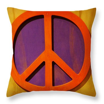 Peace Decal Throw Pillow