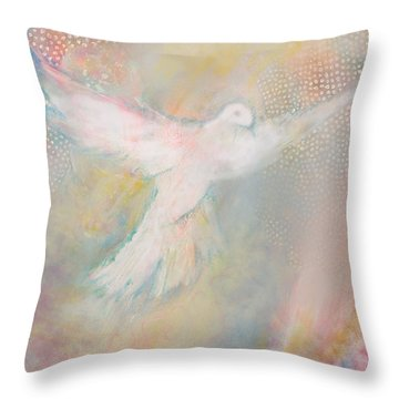 Peace Dove Throw Pillow by Anne Cameron Cutri