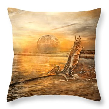 Peace Throw Pillow by Betsy Knapp
