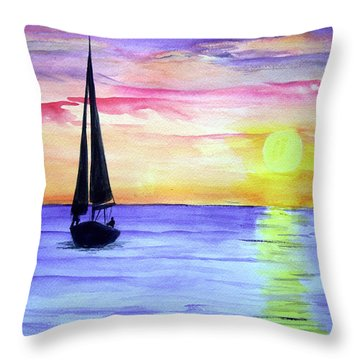 Peace Throw Pillow by Ellen Canfield