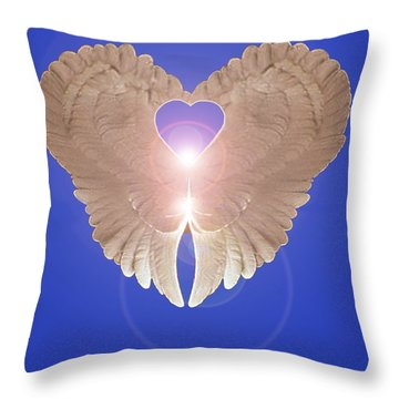 Throw Pillow featuring the digital art Peace by Eric Kempson