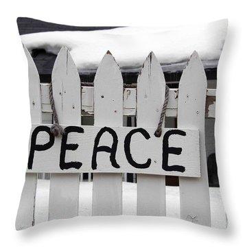 Peace Throw Pillow by Fiona Kennard
