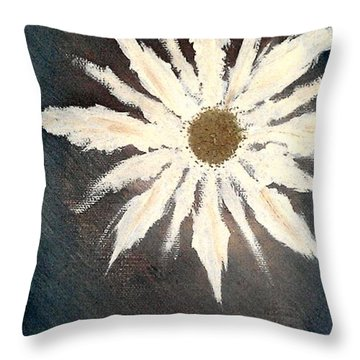 Throw Pillow featuring the painting Peace Flower by Jacqueline McReynolds