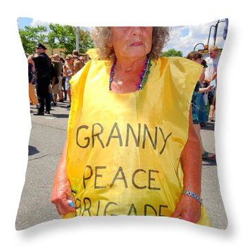 Throw Pillow featuring the photograph Peace Granny by Ed Weidman