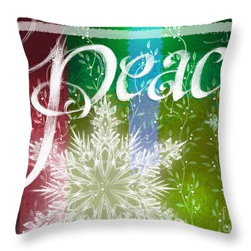 Peace Greeting Throw Pillow