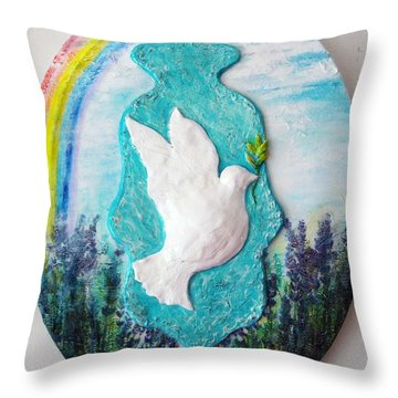 We Are One Hamsa Throw Pillow