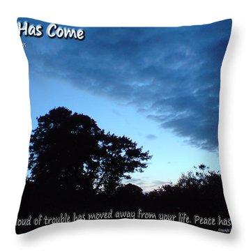 Peace Has Come Throw Pillow