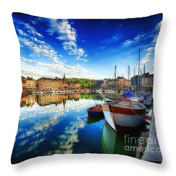 Throw Pillow featuring the photograph Peace Honfleur by Jack Torcello