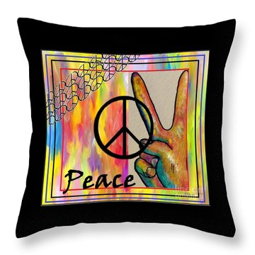Peace In Every Color Throw Pillow by Eloise Schneider