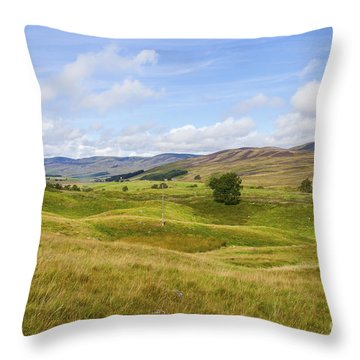 Peace In Glen Clova Throw Pillow
