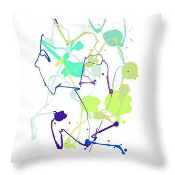 Peace In The Garden Throw Pillow by Bruce Nutting