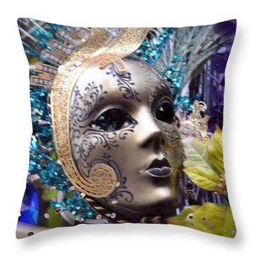 Peace In The Mask Throw Pillow