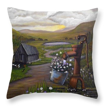 Peace In The Valley Throw Pillow by Sheri Keith
