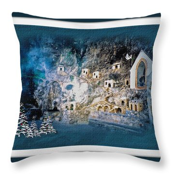Peace In The Village Throw Pillow