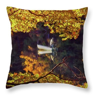 Peace Throw Pillow by Joann Vitali