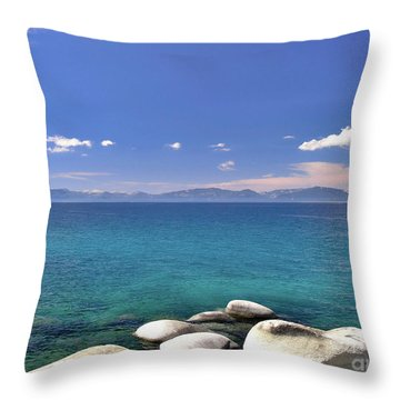 Peace - Lake Tahoe Throw Pillow