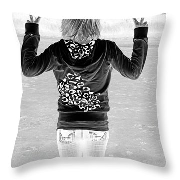 Peace Throw Pillow by Lori Frostad