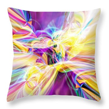 Throw Pillow featuring the digital art Peace by Margie Chapman