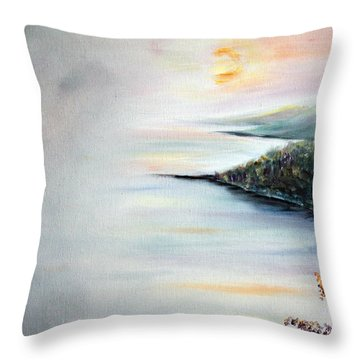 Peace Throw Pillow by Meaghan Troup