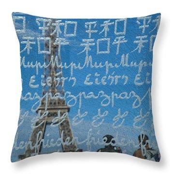 Peace Memorial Paris Throw Pillow by Brian Jannsen