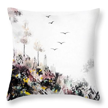 Peace Of Carmel Throw Pillow