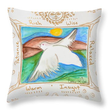 Throw Pillow featuring the painting Peace Of Heaven by Cassie Sears