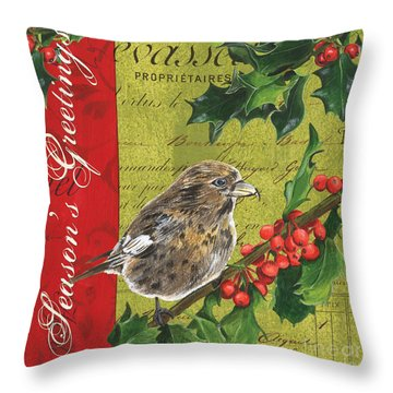 Peace On Earth 1 Throw Pillow by Debbie DeWitt