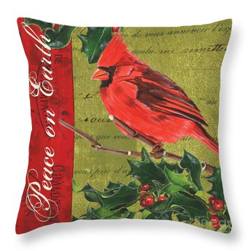 Peace On Earth 2 Throw Pillow by Debbie DeWitt