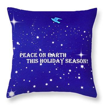 Peace On Earth Card Throw Pillow