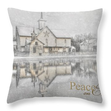 Peace On Earth Throw Pillow by Lori Deiter
