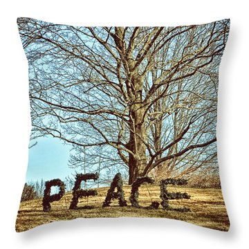 Peace On Earth Throw Pillow by Tricia Marchlik
