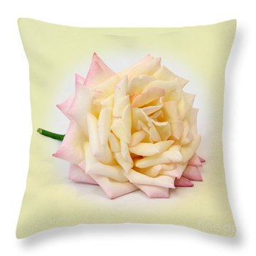 Peace Rose  Throw Pillow by Pattie Calfy