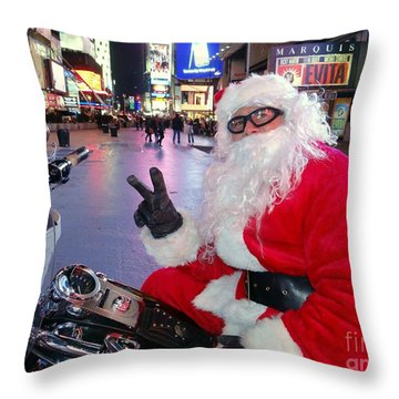 Peace Santa Throw Pillow by Ed Weidman